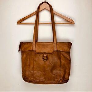 Lucky Brand Vintage Leather Shoulder Bag Camel